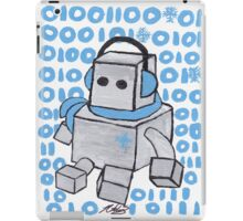 Let It Snow Binary Robot iPad Case/Skin