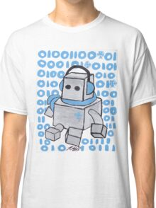 Let It Snow Binary Robot Classic T-Shirt