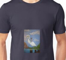 Knight and Egret  Unisex T-Shirt