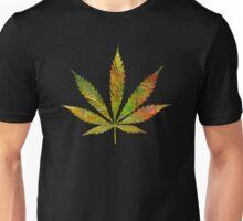 Marijuana Leaf Abstract Autumn Unisex T-Shirt