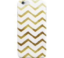 Gold and White Chevron Stripes iPhone Case/Skin