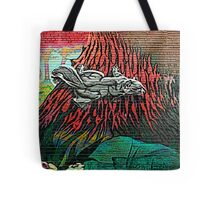 Squirrel Art On Wall #1 Tote Bag