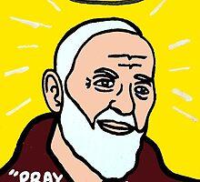 St. Pio Religious Folk Art by krusefolkart