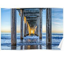 Lighted Columns Poster
