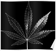 Marijuana Abstract Negative Poster