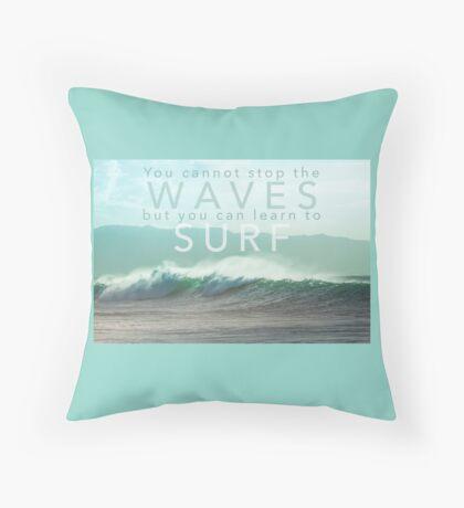 Surf Waves of Hawaii Throw Pillow