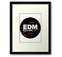 EDM (Electronic Dance Music) Lover. Framed Print