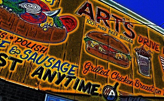 art's drive-in billboard by brian gregory