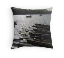 Boats in Beijing Throw Pillow