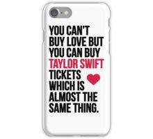 Taylor Swift Tickets iPhone Case/Skin