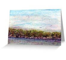 Morning on the river Greeting Card