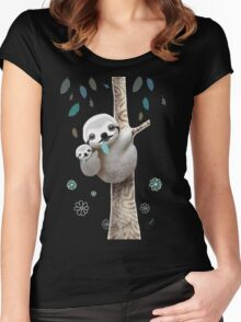 Baby Sloth Midnight Women's Fitted Scoop T-Shirt