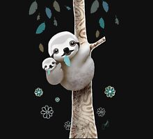 Baby Sloth Midnight Womens Fitted T-Shirt