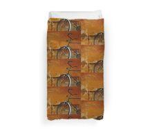 Orange Range Duvet Cover