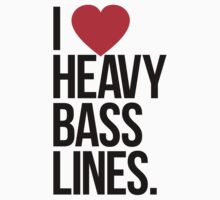 I Love Heavy Basslines. (White) One Piece - Short Sleeve