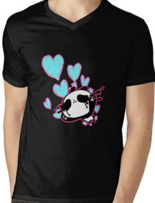 Ku Panda Mens V-Neck T-Shirt