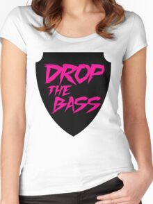 Drop The Bass Shield  Women's Fitted Scoop T-Shirt