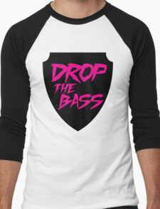 Drop The Bass Shield  Men's Baseball ¾ T-Shirt