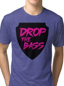 Drop The Bass Shield  Tri-blend T-Shirt