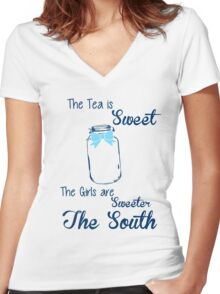 Sweeter in the South Women's Fitted V-Neck T-Shirt