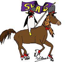 Penguin Horse Swag Flag by DaveDip97