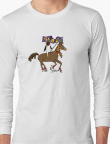 Penguin Horse Swag Flag Long Sleeve T-Shirt