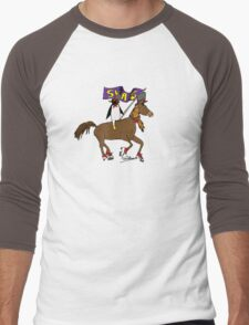 Penguin Horse Swag Flag Men's Baseball ¾ T-Shirt