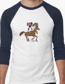Penguin Horse Swag Flag Men's Baseball ¾ T-Shirt