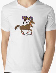Penguin Horse Swag Flag Mens V-Neck T-Shirt