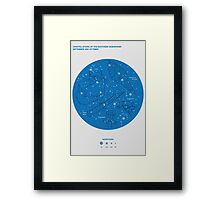 Constellations of the Southern Hemisphere- Sept & Oct (Blue) Framed Print