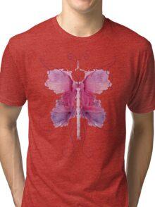 Rose Butterfly Tri-blend T-Shirt