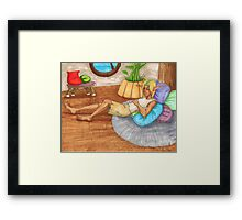 Sleeping in Sandover Framed Print