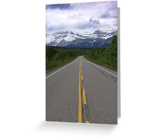 Lonely Road Greeting Card