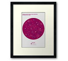Constellations of the Southern Hemisphere- Sept & Oct (Magenta)  Framed Print