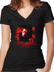 Nosferatu I Never Drink.....Wine Women's Fitted V-Neck T-Shirt