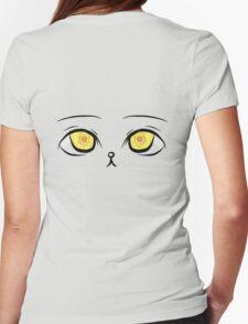 Kawaii Kitten Eyes Womens Fitted T-Shirt