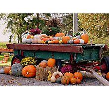 Harvest Wagon Photographic Print
