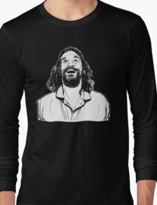 The Dude - Ecstatic (black tee) Long Sleeve T-Shirt
