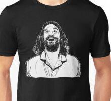 The Dude - Ecstatic (black tee) Unisex T-Shirt