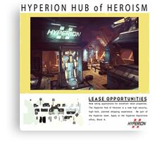 Hyperion Hub of Heroism Canvas Print