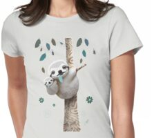 Baby Sloth Twilight Womens Fitted T-Shirt