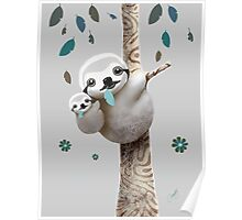 Baby Sloth Twilight Poster