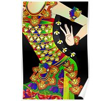Details-2 (Balinese Dancer & Frangipani) Poster