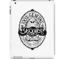 Woodcut Sasquatch Label iPad Case/Skin