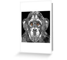 Black And White Art - Monkey Business 2 - By Sharon Cummings  Greeting Card
