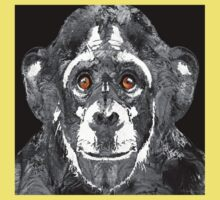 Black And White Art - Monkey Business 2 - By Sharon Cummings  One Piece - Short Sleeve