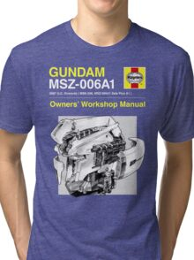 Gundam Zeta Plus - Owners' Manual Tri-blend T-Shirt