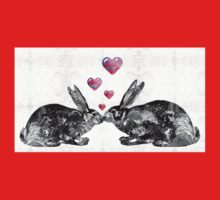 Bunny Rabbit Art - Hopped Up On Love 2 - By Sharon Cummings Kids Clothes
