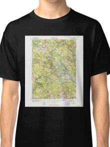 Massachusetts  USGS Historical Topo Map MA Wilmington 352370 1950 31680 Classic T-Shirt