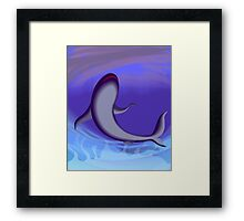 Beauty of the dolphin in the blue sea	 Framed Print